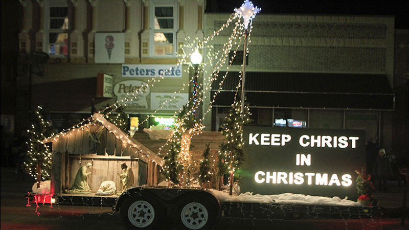 Keep Christ in Christmas Parade float